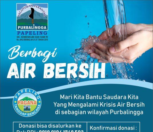 berbagi air bersih dari papeling